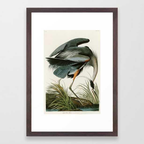Great blue Heron - John James Audubon's Birds of America Print Framed Art Print - Society6