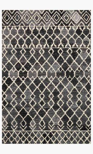 "ART-04 ED Charcoal/Ivory 5' x 7'6"" - Loma Threads"