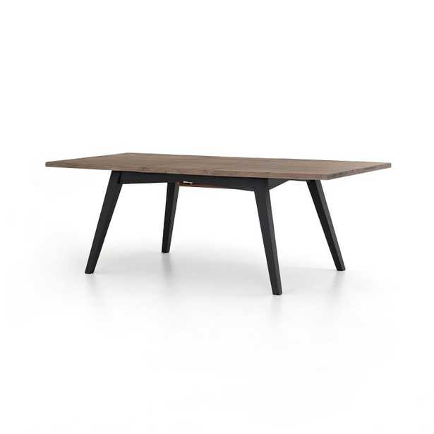 Reclaimed Pine & Iron Expandable Dining Table - West Elm