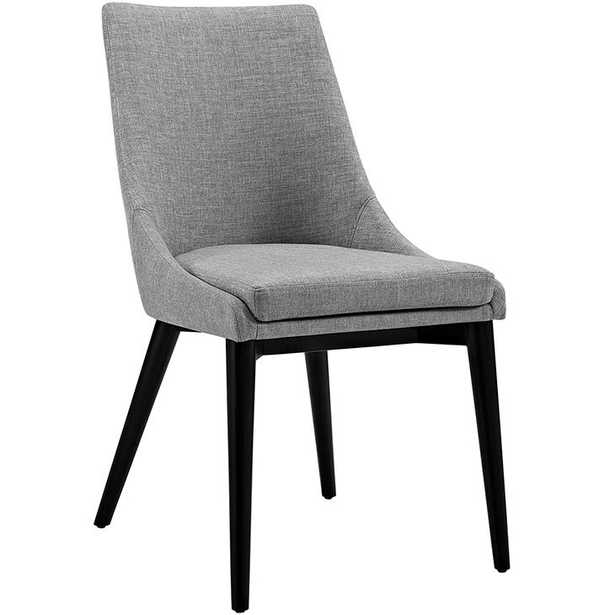 VISCOUNT FABRIC DINING CHAIR IN LIGHT GRAY - Modway Furniture