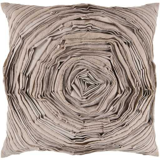 "Rustic Romance AR-002 Tan/Khaki Pillow - 18''x 18"" - Down Filler - Neva Home"