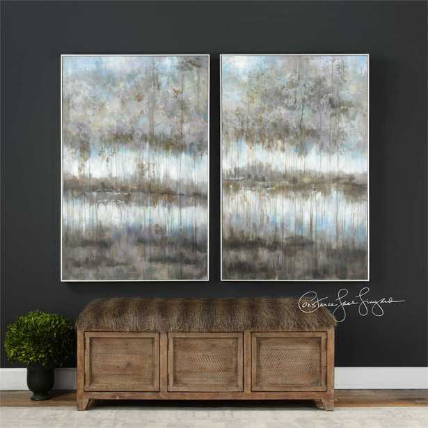 Gray Reflections Hand Painted Canvas - Hudsonhill Foundry