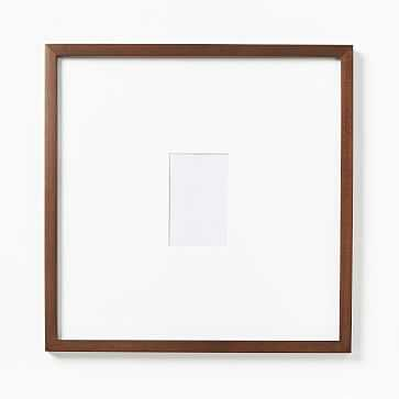 "Gallery Frames, Dark Walnut, 4""x6""/17""x17"" - West Elm"