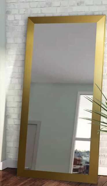 Industrial Full Length Mirror - gold, 59x20 - AllModern