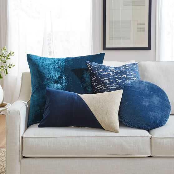 Color Crush Pillow Set - Blue - West Elm