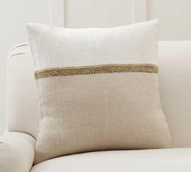 "Darren Textured Pillow Cover, 22 x 22"", Neutral Multi - Pottery Barn"