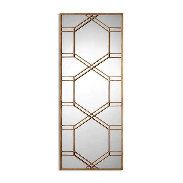Kennis Gold Leaf Leaner Mirror - Hudsonhill Foundry