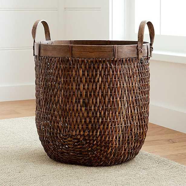 Halton Oval Rattan Tall - Crate and Barrel