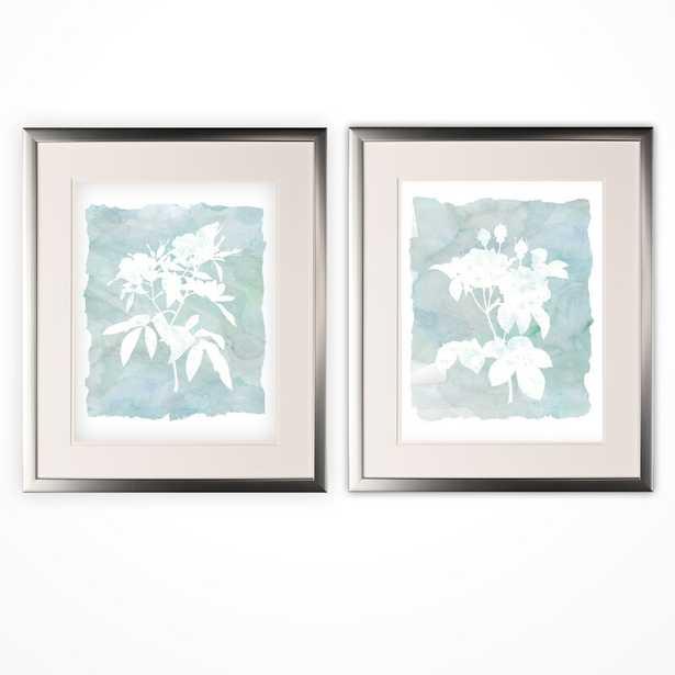 'Silhouette Botanical I' 2 Piece Framed Graphic Art Print Set - Wayfair