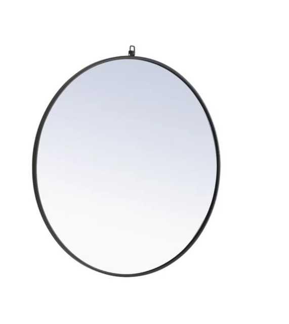 "Yedinak Modern and Contemporary Accent Mirror Black, 42"" - AllModern"