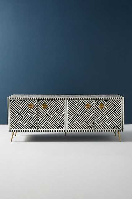 Optical Inlay Media Console - Anthropologie