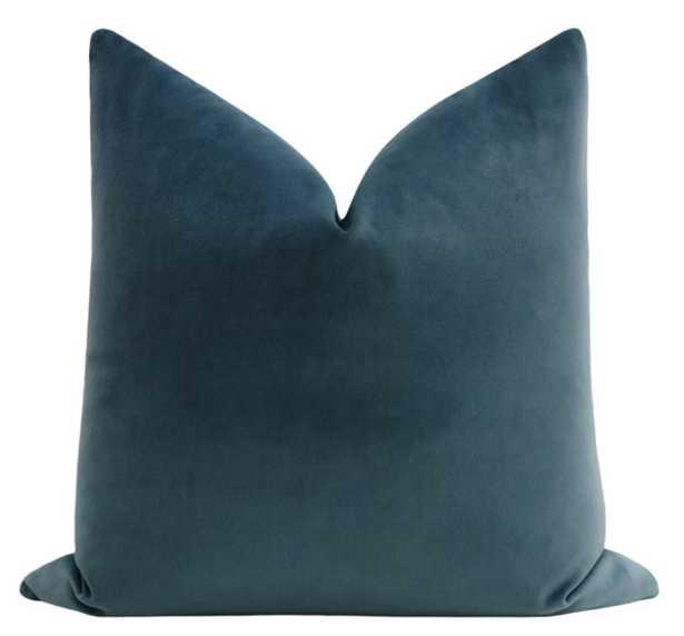 """Society Velvet // French Blue / 22"""" x 22"""" - Little Design Company"""