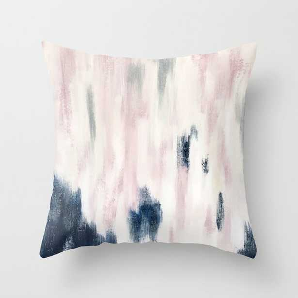 Blush Pink and Blue Pretty Abstract Throw Pillow - Society6