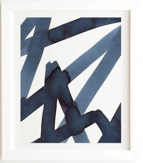 WHITE FRAMED WALL ART ASSERTION  BY ELENA BLANCO - Wander Print Co.