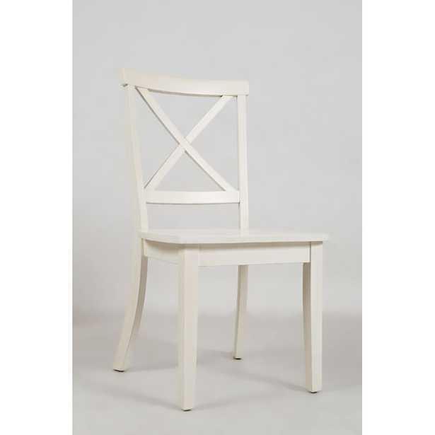 Dunster Solid Wood Cross Back Side Chair - Wayfair