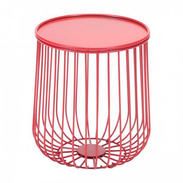Gilbert Side Table Red - Zuri Studios