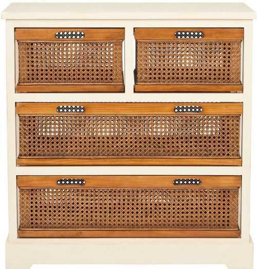 Jackson 4 Drawer Storage Unit - Barley/Cane - Arlo Home - Arlo Home
