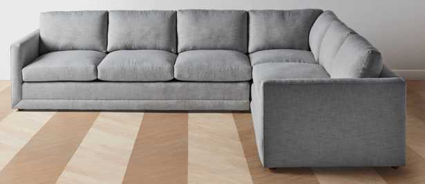 """The Warren-Chaise Sectional - Chaise L Sectional - Right: 123"""" / Left: 98""""-Performance Washed Linen Fog - Maiden Home"""