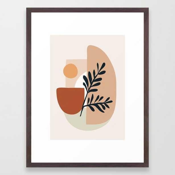 Geometric Shapes Framed Art Print (20x26, walnut) - Society6