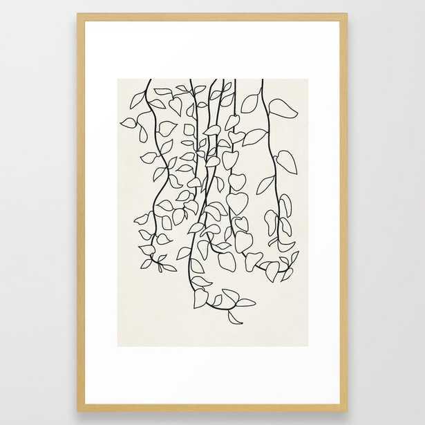 Minimalist Vines II Framed Art Print - Society6