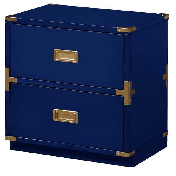 Harrison 2 Drawer Chest - Lapis Blue - Wayfair