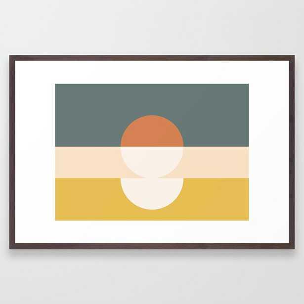 "Abstract 02 Framed Art Print by Theoldartstudio - Large 26""x38"" - Conversation Walnut - Society6"