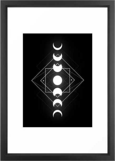 Moon Phases Framed Art Print - Society6