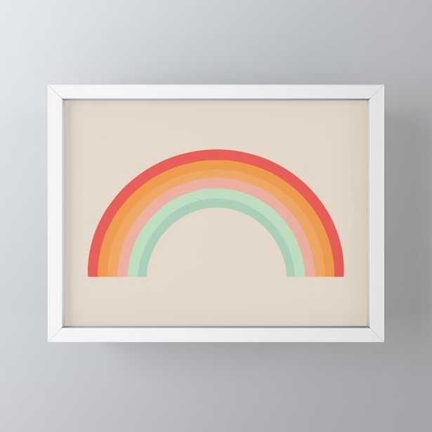 Vintage Rainbow Framed Mini Art Print by colour poems - Society6