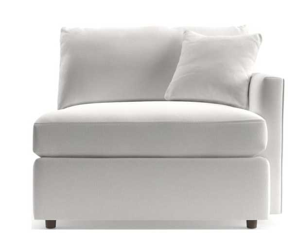 Lounge II Petite Right Arm Chair- View White - Crate and Barrel