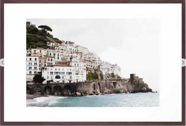 Amalfi Coast Framed Art Print, 26x38 - Society6