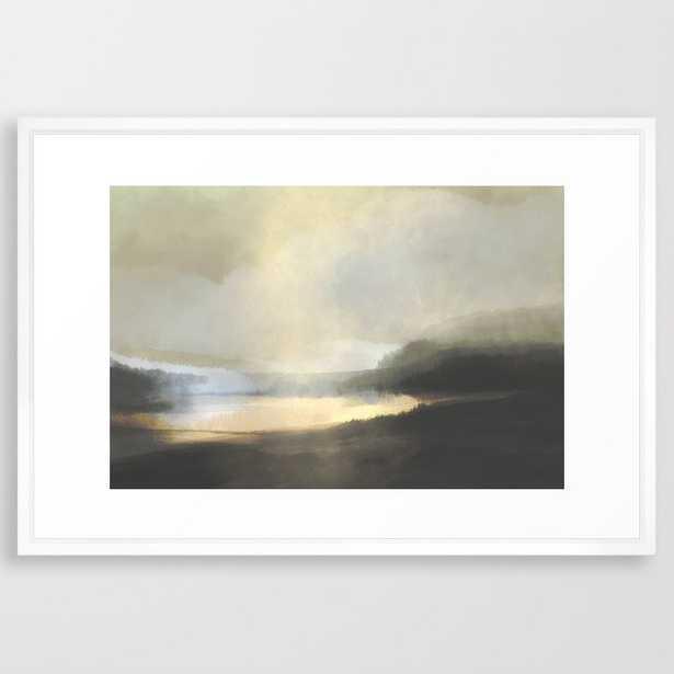 Dusk Lake Framed Art Print - Society6