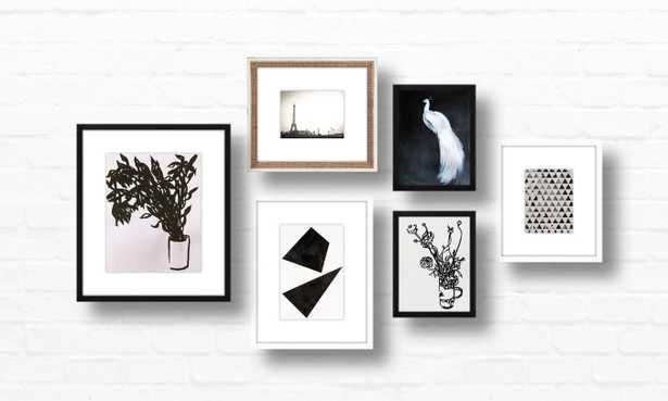 Gallery Wall - The Monochromatic Six - Artfully Walls