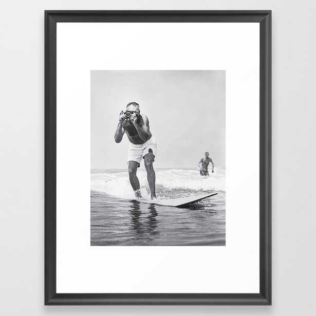 The Surfing Photographer Framed Art Print - Society6
