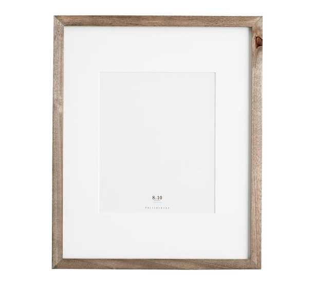 WOOD GALLERY SINGLE OPENING FRAME 8 x 10, gray - Pottery Barn