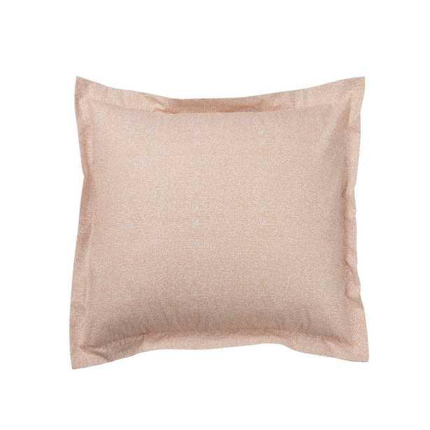 Lofthome Maze Organic Percale Coral (Pink) Euro Sham - Home Depot