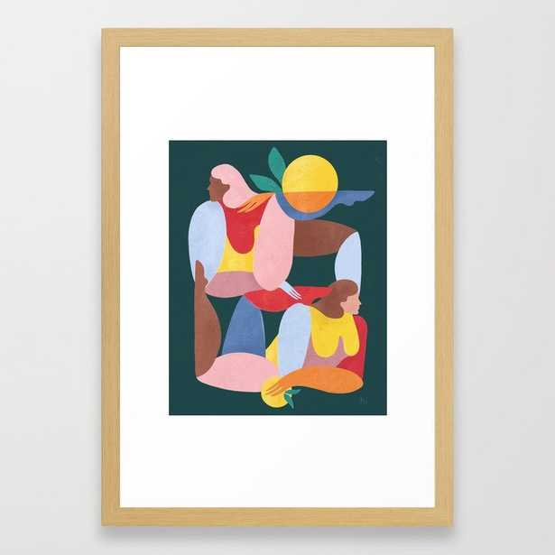 Abstract Figures V Framed Art Print - Society6