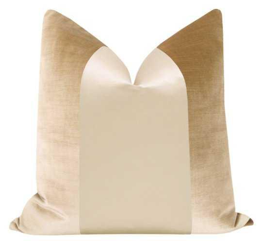 PANEL Monochromatic :: Faux Silk Velvet // Champagne - Little Design Company