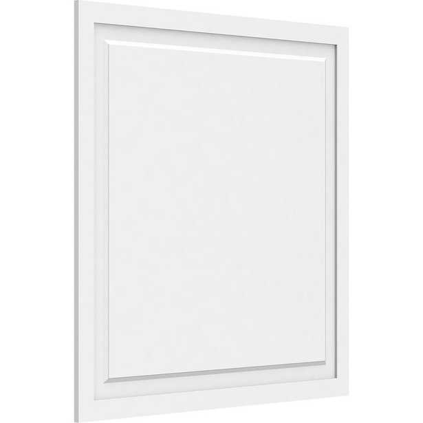 5/8 in. x 40 x 40 Harrison Raised Panel White PVC Decorative Wall Panel - Home Depot