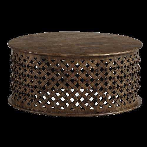 Bornova Coffee Table-Medium Chestnut - Ballard Designs