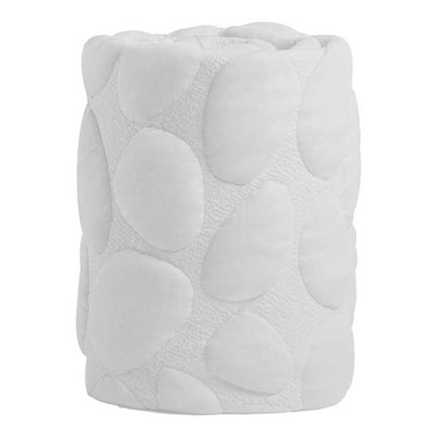 Nook Sleep Modern Organic Pebble Air Crib Mattress Wrap - Cloud - Kathy Kuo Home