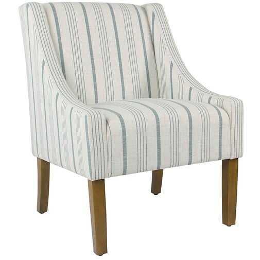 Londonshire Swoop Armchair - blue/Cream - Wayfair