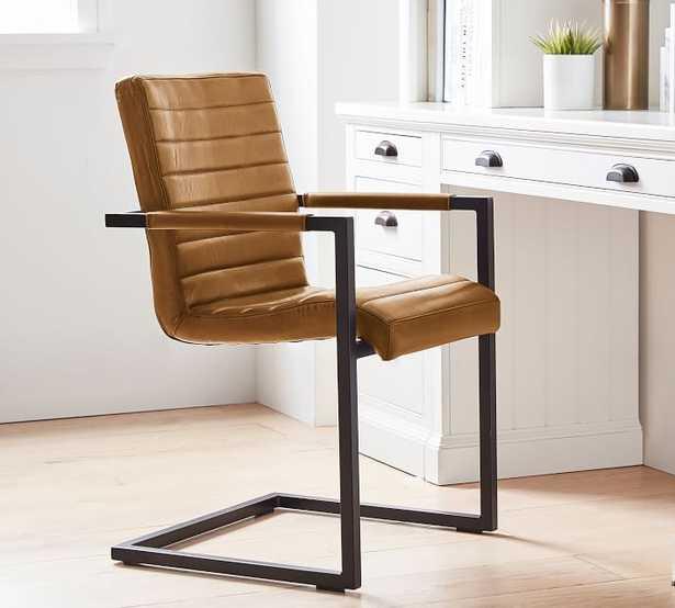 Sabina Leather Desk Chair, Camel - Pottery Barn