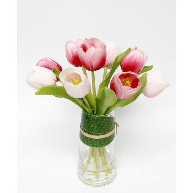 Tulip Floral Arrangement in Vase - Wayfair