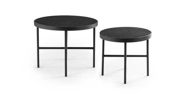 Gera Black Granite Side Table Set - Article
