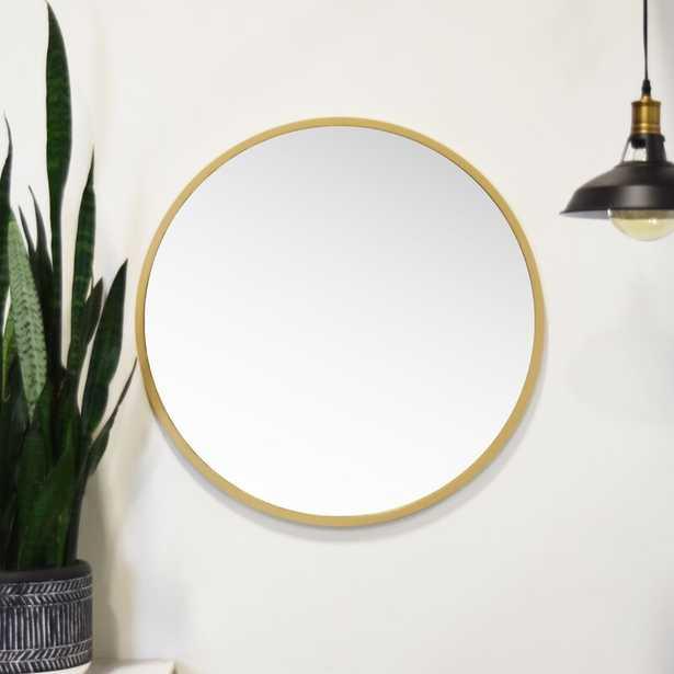 Clique Modern and Contemporary Wall Mounted Mirror - Gold - Wayfair