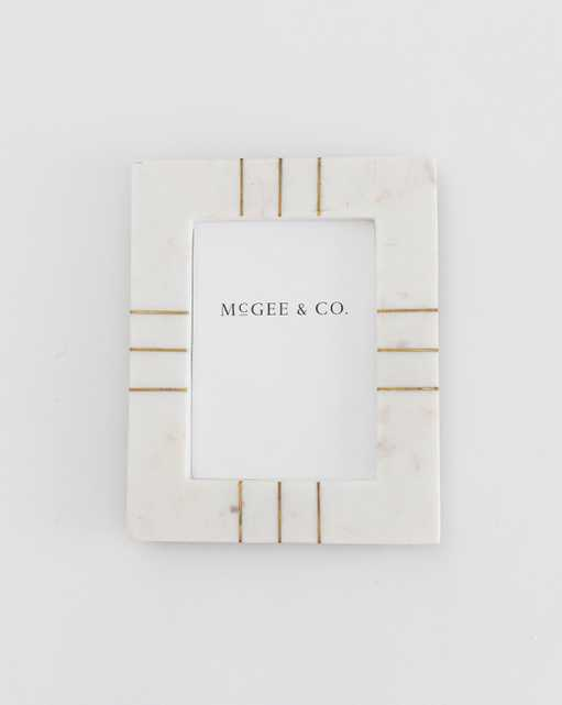 Marble & Brass Frame - 4x6 - McGee & Co.