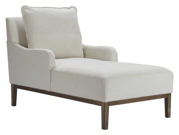 Melrose Chaise Lounge, Ivory Linen - Wayfair