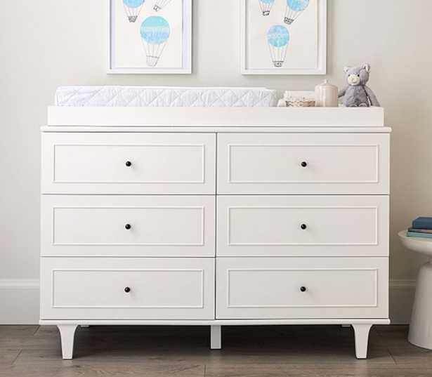 Dawson Extra-Wide Dresser & Topper Set, Simply White - Pottery Barn Kids