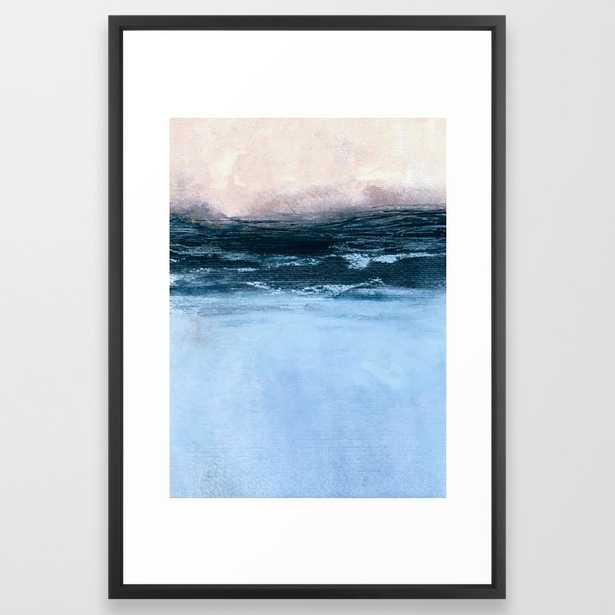 "Misty sunrise Framed Art Print 65 by Iris Lehnhardt- 26"" X 38""- Vector Black - Society6"