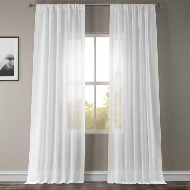 "Cris Solid Sheer Rod Pocket Single Curtain Panel 108""L - Wayfair"